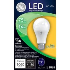 G E Lighting 4 Packs GE 12W SW A21 LED Bulb