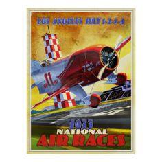 Vintage Plane Posters | Vintage airplane racer posters