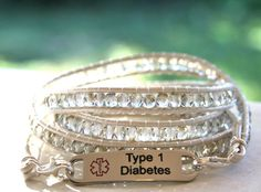 Custom Medical Alert Wrap Bracelet Wraps 5 Times Around Via Etsy Too Cute