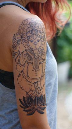 Afbeeldingsresultaat voor tattoo mandala ganesh