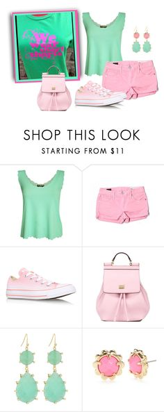 """""""We Wear Short Shorts"""" by sjlew ❤ liked on Polyvore featuring Pilot, Evisu, Converse, Dolce&Gabbana, Panacea and Kate Spade"""
