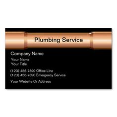258 Best Plumbing Business Cards Images On Pinterest Business Card