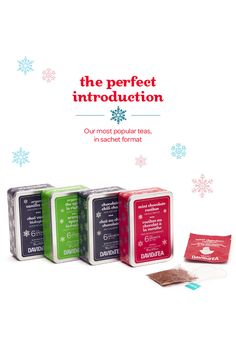 WINTER 2014 - Our most popular teas in a convenient grab-and-go sachet format!