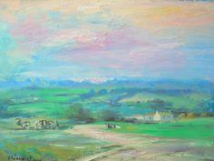 US Impressionism Artist Oil Paintings Irish Landscape, Ireland Landscape, Southern Ireland, American Impressionism, Worlds Largest, Oil, The Originals, Colors, Artist