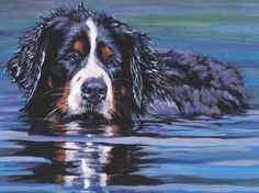 Bernese Mountain Dog CANVAS print of LA Shepard by TheDogLover, $39.99