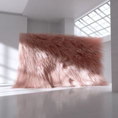 "My Kind of Wall"" installation (comprised of synthetic fur) created by Andrés Reisinger, exhibited in Barcelona . Bühnen Design, Mawa Design, Event Design, Design Trends, Design Ideas, Instalation Art, Top Wedding Trends, Wedding Wows, Flower Installation"