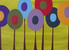 Painted Lollipop Trees