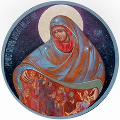 Theotokos the great protector - contemporary
