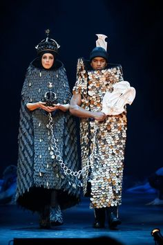 The 2013 Brancott Estate Supreme WOW Award Winner is THE EXCHANGE, by Tatyanna Meharry and Natasha Meharry of Christchurch, New Zealand.© 2013 World of WearableArt Ltd