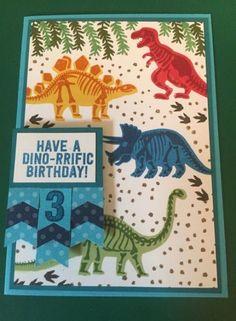 Super birthday card children boys stampin up ideas – Birthday Birthday Cards For Boys, Funny Birthday Cards, Happy Birthday, Special Birthday, Boy Cards, Kids Cards, Dinosaur Cards, Dinosaur Dig, Kids Stamps