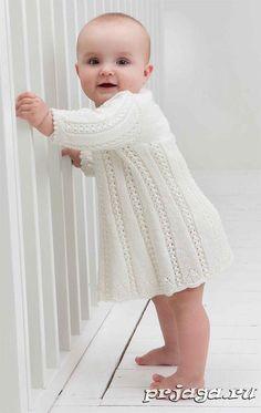 Платье для малышки спицами