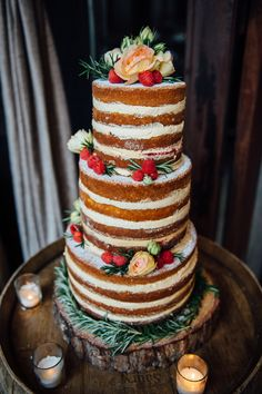 peanut butter and jelly cake — vanilla cake with peanut-butter frosting and raspberry confit filling.