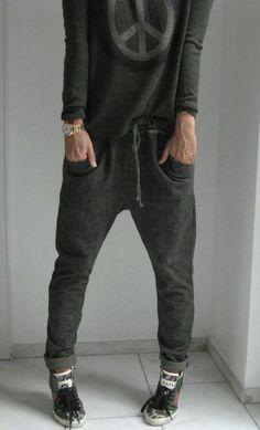 travel in style - Tweed jogging pants - TWEED JOGGINGHOSE JODPHURHOSE TUNNELZUG khaki von secret-of-style auf DaWanda.com