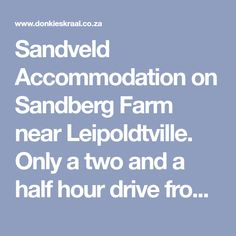 Sandveld Accommodation on Sandberg Farm near Leipoldtville. Only a two and a half hour drive from Cape Town, Donkieskraal Guest Lodge and Private Game Reserve offers a quick escape from the everyday rush and routine. Come and relax in one of our rock chalets, safari tents or even in your own tent in the camping area. Blue Wildebeest, Private Games, Two And A Half, Game Reserve, Cape Town, Tents, Safari, Routine, Relax