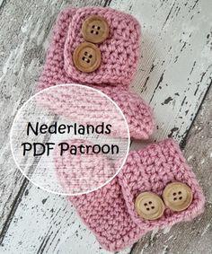 Handleiding haken - Patroon gehaakte baby slofjes, booties, baby uggs - Een uniek product van FrisianKnitting op DaWanda