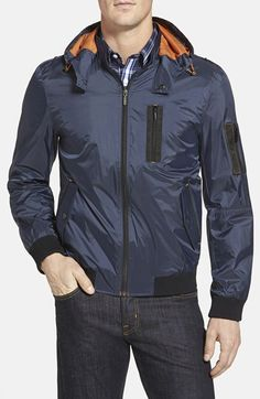 RAINFOREST+Flight+Jacket+with+Detachable+Hood+available+at+#Nordstrom