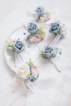 Blue And Blush Wedding, Dusty Rose Wedding, Dusty Blue Weddings, Light Blue Weddings, Blush Pink, French Wedding, Diy Wedding, Wedding Ideas, Wedding Decorations