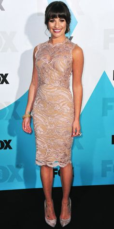 05/15/12: Sexy and sweet! #LeaMichele created an alluring illusion with her peek-a-boo lace cocktail dress. #lookoftheday http://www.instyle.com/instyle/celebrities/lotdpopup/0,,20595637_21159707,00.html