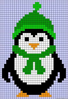 Christmas Perler Bead Patterns – U Create - cross stitch Cross Stitch Cards, Cross Stitch Animals, Cross Stitching, Cross Stitch Embroidery, Alpha Patterns, Canvas Patterns, Art Patterns, Hama Disney, Christmas Perler Beads