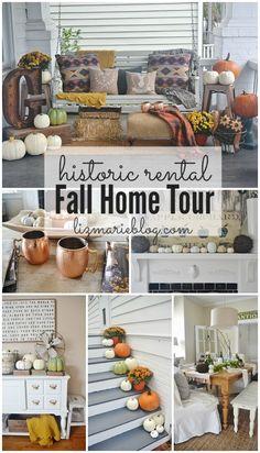 Fall Home Tour 2014 - historic downtown rental - lizmarieblog.com