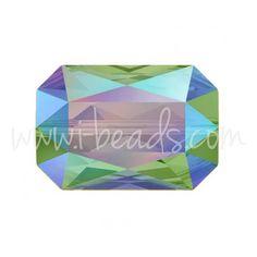 Swarovski 5515 Emerald cut Perle crystal paradise shine 18x12mm (1)