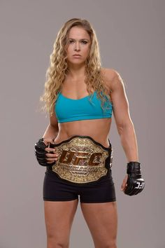 "Women's bantamweight champ ""Rowdy"" Ronda Rousey. Can't wait to see her in the expendables."