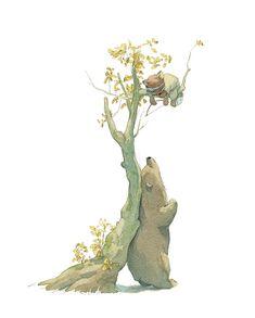 Quentin Gréban - Illustrateur - Editions Mijade Art And Illustration, Watercolor Illustration Children, Animal Drawings, Art Drawings, Wow Art, Bear Art, Cartoon Art, Cute Art, Illustrators