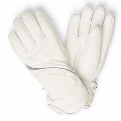 Bogner Mona Womens Ski Glove in Off White Women's Ski Gloves, Womens Ski, White Stone, Off White, Skiing, Pairs, Stylish, Leather, Fashion