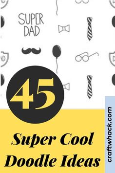 Here are the super cool doodle ideas you will love! It's become absolutely cool to doodle all over everything, and doodling has been proven to help you retain information. If you are looking for doodle ideas to add to your collection, check this pin! #doodleideas #cooldoodle #doodle #doodleideas