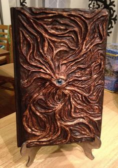 Necronomicon (bricked kindle---s) Halloween Spell Book, Halloween Spells, Halloween Crafts, Wicca, Magic Book, Handmade Books, Journal Covers, Leather Journal, Book Binding