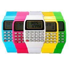 Relojes calculadora están de moda otra vez, un regalo ideal como recuerdo de su primera comunion