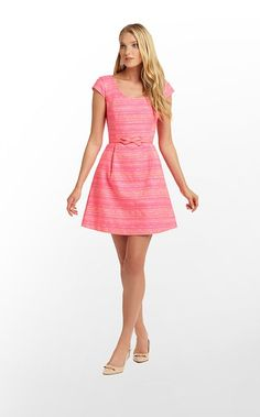 Rylan Dress in Neon Pink Metallic Boucle $278 (w/o 2/2/12) #lillypulitzer #fashion #style