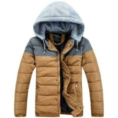33.87$  Watch here - http://aliy03.shopchina.info/go.php?t=32539856213 - New 2016 Men Hooded Wadded Thicken Parkas Fashion Winter Coat Men Cotton Padded Jacket Short Outerwear 3XL H6266  #buychinaproducts