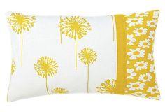 Daisy 12x20 Cotton Pillow, Yellow on OneKingsLane.com