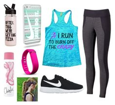 RUN RUN by aamna16 on Polyvore featuring polyvore, fashion, style, Marika, NIKE, Fitbit and clothing