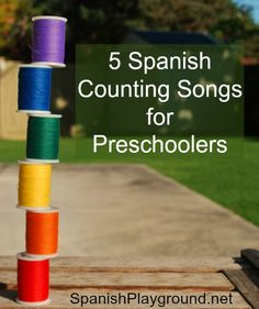 Five Spanish songs for kids that teach counting in Spanish. These Spanish kids songs teach children to count from 1 to 10. In addition to teaching Spanish numbers, most of them teach other vocabulary and structures, too. I have used all these Spanish counting songs with my preschool students at different times, and the kids have loved them all. #Teach#Spanishnumbers #NumbersinSpanish #Spanishforpreschoolers http://spanishplayground.net/5-spanish-counting-songs-preschoolers/