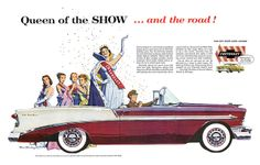 1956 Chevrolet Bel Air Convertible Queen Of The Show Vintage Ad