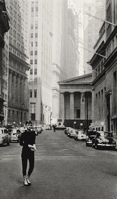 Audrey Hepburn in New York City.