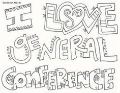 General Conference Doodle Coloring Pages Activities For Kids Quotes Lds