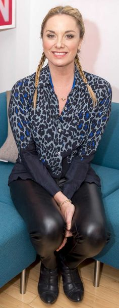 Tamzin Outhwaite in leather trousers Thigh High Boots Heels, Heeled Boots, Tamzin Outhwaite, Leather Trousers, Skin Tight, Thigh Highs, Thighs, Classy, Actresses