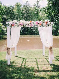 ceremony arbor   Rachel May #wedding
