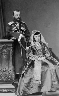 "Grand Duke Mikhail Nikolaevich Romanov of Russia and Grand Duchess Olga Feodorovna Romanova of Russia. ""AL"""