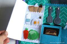 Handmade quiet book Dollhouse, busy book for girl, kitchen, Развивающая книжка Кукольный домик, кухня
