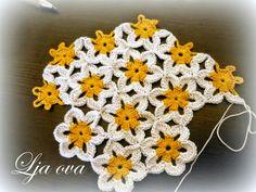 Manzanillas al crochet en 2 versiones - diagramas y paso a paso | Crochet y dos agujas