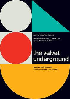 The Velvet Underground | 10 Inexpensive Minimalist Rock Posters To Make Your Walls Awesome