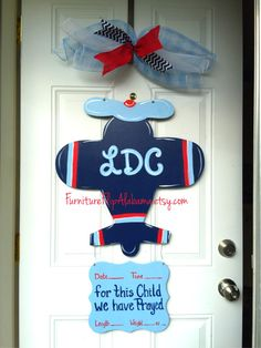 Hospital door hangerIts a Boy Peter Rabbit by Furnitureflipalabama Hospital Door Baby, Hospital Door Wreaths, Hospital Door Hangers, Baby Door Hangers, Wooden Door Hangers, Burlap Door Hangings, Airplane Decor, Painted Wood Signs, Wooden Signs
