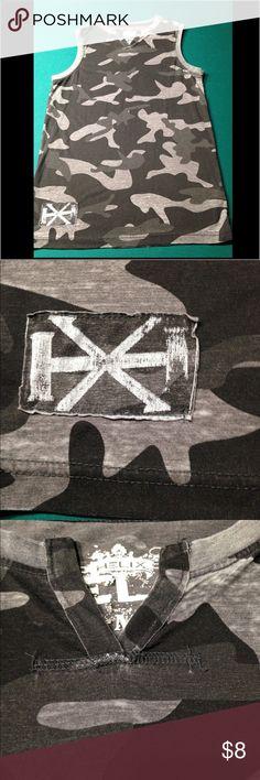 Men's sleeveless shirt Black and grey Camouflage sleeveless shirt helix Shirts Tank Tops