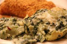 Mix and Match Mama: Dinner Tonight: Spinach Artichoke Ravioli.
