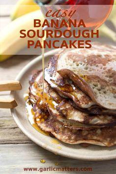 Banana Sourdough Pancakes Recipe