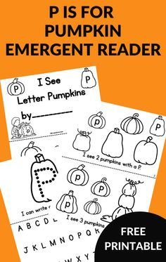 Grab this P is for Pumpkin interactive printable reader book. Work on identifying the letter p with a pumpkin theme activity. #pumpkinactivity #alphabetactivity #GrowingBookbyBook Alphabet Activities, Literacy Activities, Letter Recognition Games, Books For Beginning Readers, Just Right Books, Mentor Texts, Learning The Alphabet, Letter A Crafts, Readers Workshop